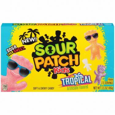 Жевательные конфеты Sour Patch Kids TROPICAL, 99г