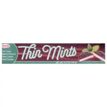 Конфеты Thin Mints мята и шоколад,156г