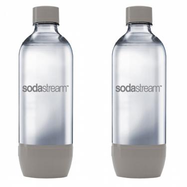 Комплект бутылок SodaStream Twin Pack серые (для сифонов Sodastream и Ecosoda)