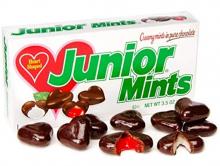 Мятные конфетки Junior Mints heart shaped, 99г