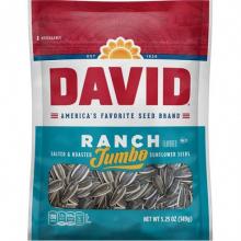 Семечки DAVID Ranch Jumbo(соленые,жаренные),106г