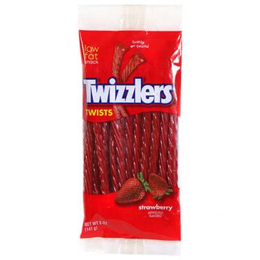Лакричные палочки Twizzlers клубника, 141 г